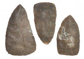Cache Of Three Hornstone Blades.  KY.  Longest 4 1/