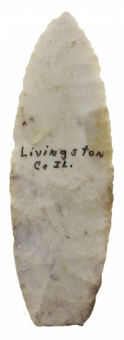 "3 5/16"" Agate Basin. Livingston Co, Il. Thin."