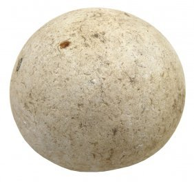 """Large 2 7/8"""" Game Ball. Shelby Co, In. Lewis Mcdaniel"""