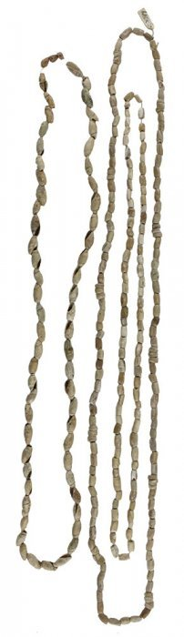 """2 Shell Bead Necklaces. 28"""" And 37"""". From The Roy"""