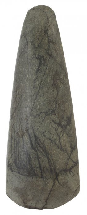 "7 7/8"" Greenstone Celt. Tn. Nicely Polished, Well"