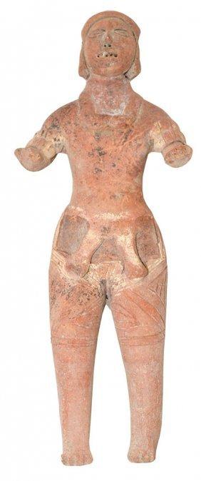 """7 7/8"""" H. Terra Cotta Figure.  Colima.  MX.  500 BC to"""