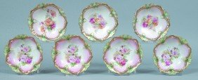 """RS Prussia 7 Berry Bowls, 5.5""""d., Mold 82; Central"""