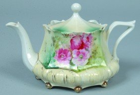 "RS Prussia Tea Pot, 3""h. X 4.75""d.; Mold 632; Pink"