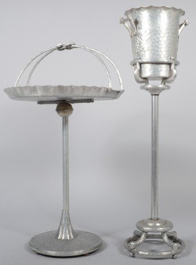 Two Pieces Of Grape Pattern Aluminum; Wine Cooler