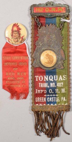 Improved Order Of Red Men Reversible Dress Ribbon