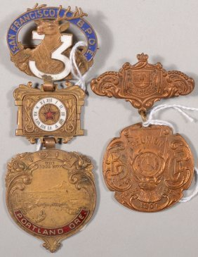 Lot Of (2) B.P.O.E. Reunion Medals, 1907 And 1912.