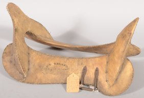 "War Saddle Tree With A Brass ""E. Waters, Maker, T"