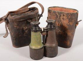 "Nineteenth Century Pair Of Binoculars Marked ""Jume"