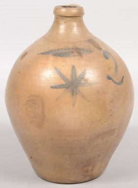 "Ovoid Shaped Stoneware Jug. Stamped At Neck: ""Benne"