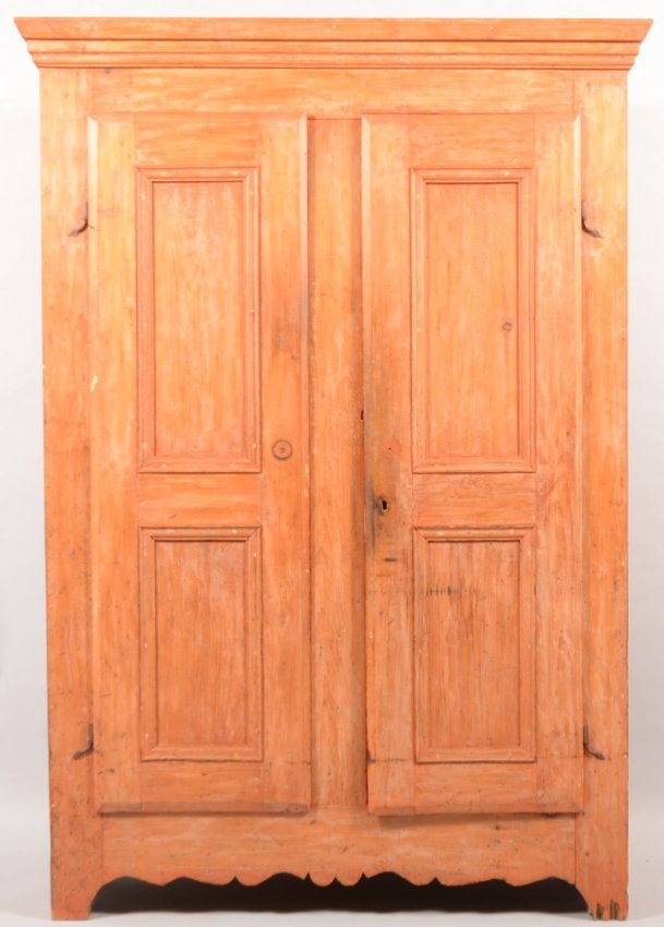 585 Two Raised Panel Double Door Mixed Wood Cupboard