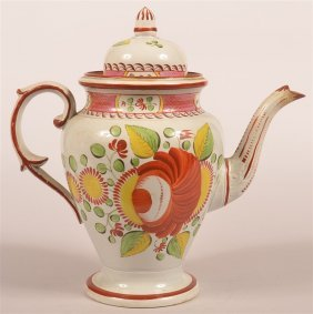Kings Rose Soft Paste Dome Top Coffee Pot.