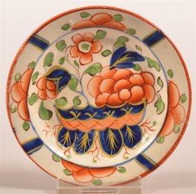 Gaudy Dutch War Bonnet Pattern Cup Plate.