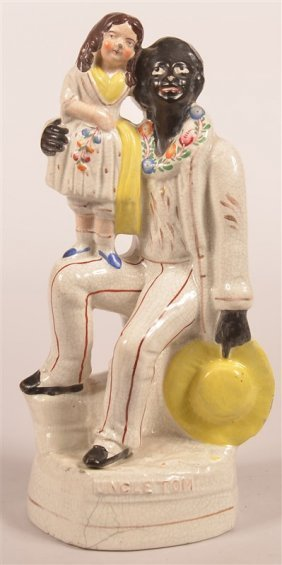 Staffordshire China Uncle Tom Figurine.
