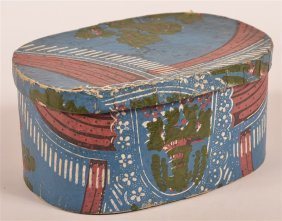 Pennsylvania Wallpaper Covered Ribbon Box.