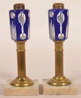 Pair Of 19th Century Fluid Lamps.