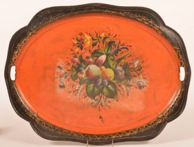 19th Century Tin Serving Tray.