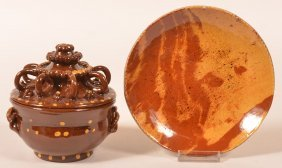 Two Early Pieces Of Breininger Redware.