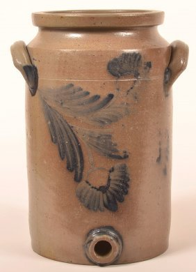 Unsigned 3 Gallon Stoneware Water Cooler.