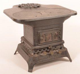 19 Century Cast Iron Miniature Cook Stove