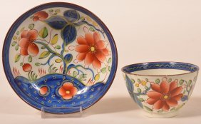 Gaudy Dutch Sunflower Pattern Soft Paste China Cup And