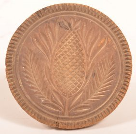 Pa 19th Cent. Maple Pineapple Butter Print.