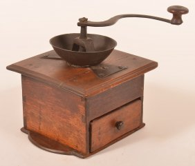 J. Fisher 19th Century Coffee Grinder.