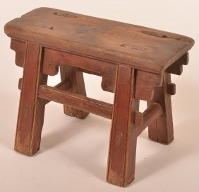 Early 19th Century Mortised Leg Footstool.