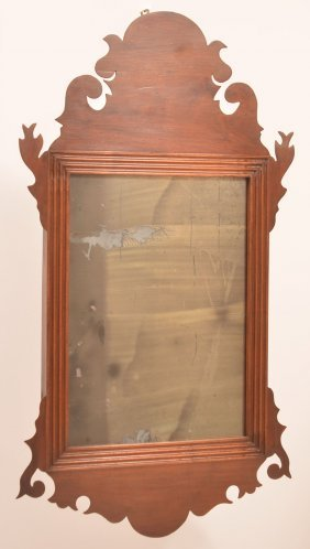 Pennsylvania Chippendale Mahogany Mirror.