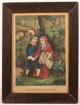 "Currier & Ives ""the Children In The Woods"" Print."