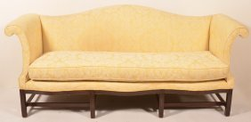Chinese Chippendale Camel-back Sofa.