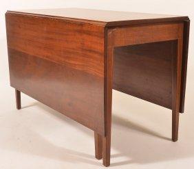 Hepplewhite Style Mahogany. Inlaid Drop Leaf Table.
