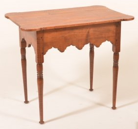 Tiger Maple Period Style Tavern Table.