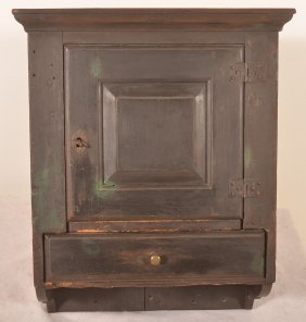 Early 19th Cent. Pa Softwood Hanging Cupboard.