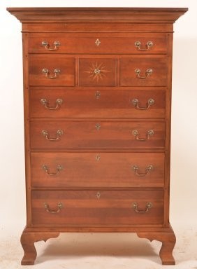 Williamsburg Chippendale Style Tall Chest.