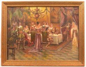 C. Phillip Weber Renaissance Scene Painting.
