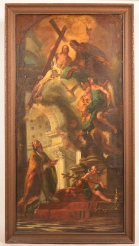 Baroque Painting Of Saint Anthony's Death.