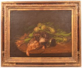 Pair 18th Cent. Dutch School Still Life Paintings.