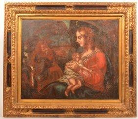 Madonna Nursing The Christ Child Painting.