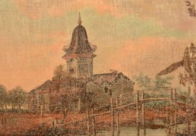 Chinese House Of Worship Painting.