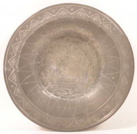 Continental Pewter Wine Bowl Signed Kringling.