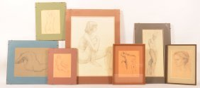 Seven J. Cashore Nude Drawings/sketches.