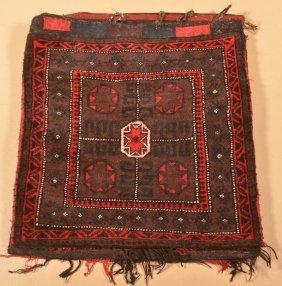 Oriental Medallion & Floral Pattern Saddle Bag.