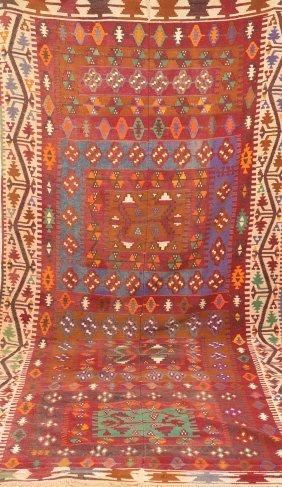 Colorful Geometric Pattern Rug.