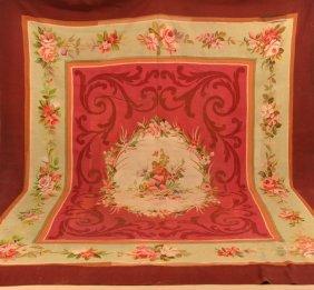 French Floral Medallion Patt. Tapestry/carpet.