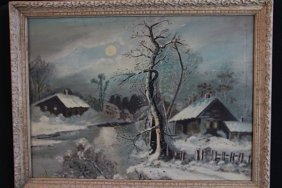 OIL ON BOARD 19TH CENTURY - UNSIGNED