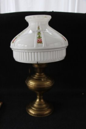 ALADDIN BRASS MANTLE LAMP MODEL NO. 6