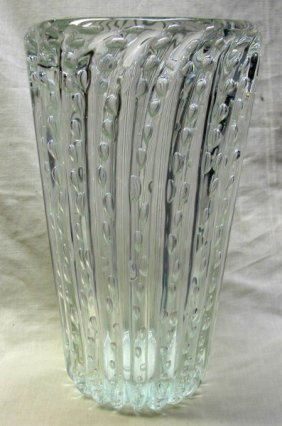 MURANO STUDIO LARGE BUBBLE GLASS VASE