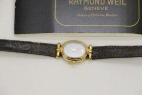 18k Plated Raymond Weil Ladies Watch