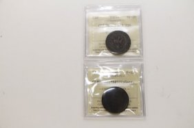Two Canadian 1850 Colonial Tokens & 1837 Penny